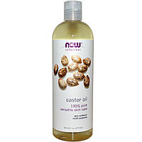 Now Foods, Solutions, касторовое масло (Castor Oil), (473 мл)