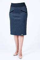 Женская трикотажная юбка Берта серый ромб