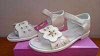 Белые нарядные босоножки на девочку  34 размер!Детская летняя обувь. Обувь для девочки лето