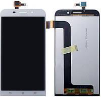 Дисплей (экран) для телефона Asus ZenFone Max ZC550KL + Touchscreen Original White