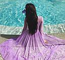 Пластиковый козырек прозрачный (фиолетовый), фото 2