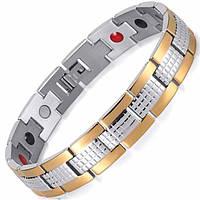 Магнитный браслет от давления - Золотой Джин 4 в 1
