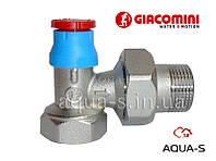 """Клапан термостатический угловой (под установку термоголовки) DN 3/4"""" Giacomini"""