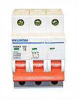 Автоматический выключатель Hyundai HIBD63-N 3P 6КА