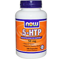 Now Foods, 5-HTP, 50 мг, 180 капсул