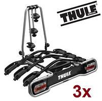 Велобагажник Thule EuroRide 943. Багажник для перевозки 3-х велосипедов на фаркоп. Велокрепление. Велоплощадка