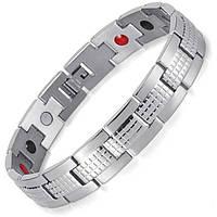 Магнитный браслет от давления - Серебрнный Джин 4 в 1
