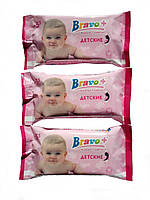 Влажные салфетки Bravo+ для детей, ромашка