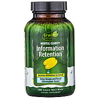 """Irwin Naturals, """"Ясность мысли и память"""", пищевая добавка для стимуляции памяти и улучшения работы мозга, 60 м"""