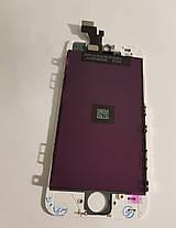 Модуль (сенсор + дисплей) Apple iPhone 5s / iPhone SE білий, фото 3