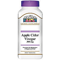 21st Century, 21st Century Health Care, яблочный уксус, 300 мг, 250 таблеток