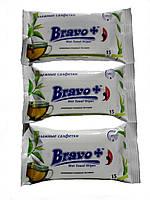 Влажные салфетки Bravo+ зеленый чай