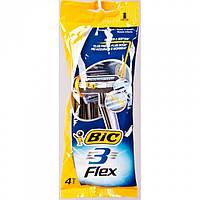 Набор одноразовых бритвенных станков Bic 3 Flex 4 шт.