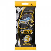 Набір одноразових станків для гоління BIC 3 Action 4 шт.
