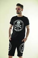 Брендовый летний костюм для мужчин футболка и шорты, лого PHILIPP PLEIN