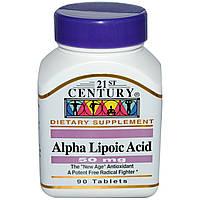 21st Century, Альфа-липоевая кислота, 50 мг, 90 таблеток