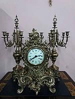 Камінний годинник з канделябрами (2998).ДНІПРО