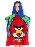 Детское пончо Angry Birds Fast dry оптом, 60*120 см.