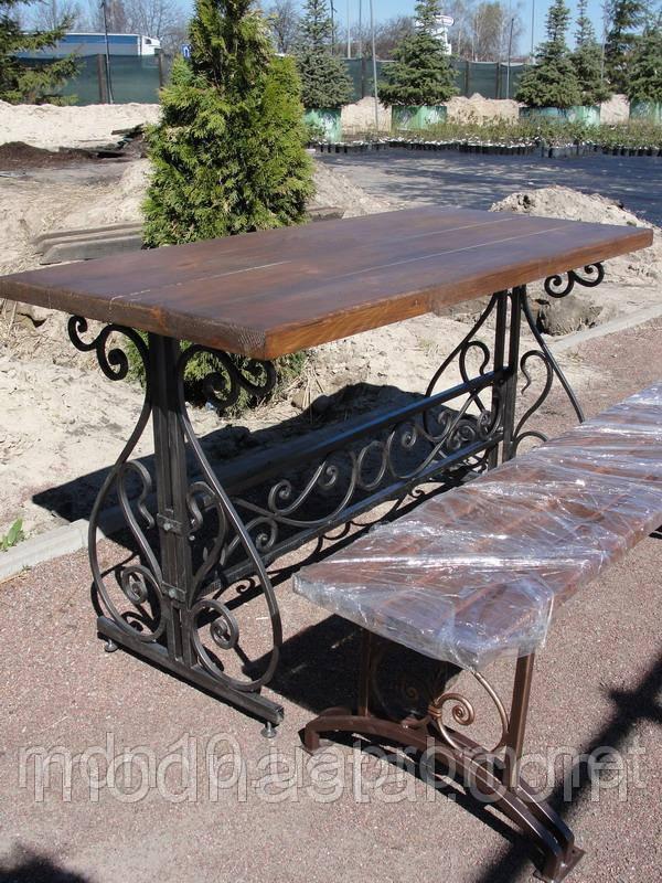Садовый набор  - стол кованый + 2 скамейки