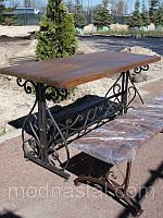 Садовый набор  - стол кованый + 2 скамейки, фото 1