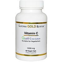 California Gold Nutrition, Витамин C, Quali-C Европейского производства, 1000 мг, 60 растительных капсул