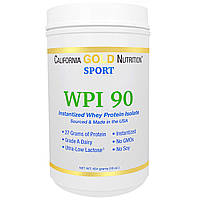 California Gold Nutrition, Sports, WPI 90, Instantized Whey Protein Isolate, Ultra-Low Lactose, 16 унций (454
