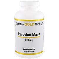 California Gold Nutrition, Мака перуанская, 500 мг, 240 капсул в растительной оболочке