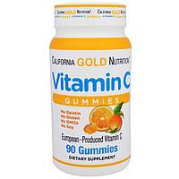 California Gold Nutrition, Жевательные конфеты с витамином C, 90 штук