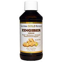 California Gold Nutrition, Зингибер, Поддержка иммунной системы, без алкоголя, 4 ж. унции (118 мл)