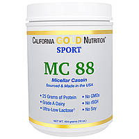 California Gold Nutrition, Sports, MC 88, Pure Micellar Casein Protein, Ultra-Low Lactose, 16 унций (454 г)