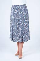 Летняя юбка годэ, масло серого цвета №32