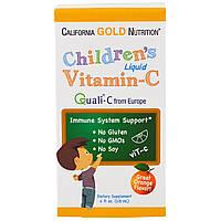 California Gold Nutrition, Жидкий витамин C для детей, с апельсиновым вкусом, 4 жидких унции (118 мл)