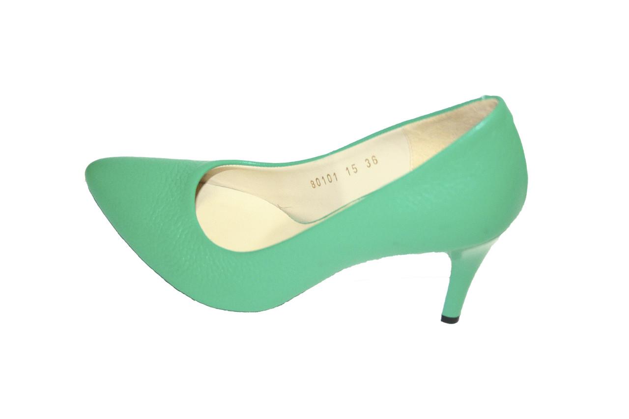 Туфли кожаные Oscar Fur  80101-18 Зеленый
