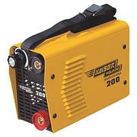 Сварочный инвертор Kaiser MMA-200, 220 В, свар.ток 20-200 А, электроды 1,6-5,0 мм, вес 6,5 кг