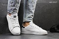 Женские кроссовки Adidas Stan Smith, пресс кожа, белые/ бег кроссовки женские Адидас Стен Смит, модные