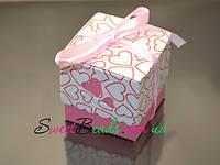 Бонбоньерка 50*50*45мм, розовая