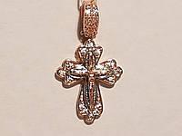Золотой крестик. Распятие Христа с фианитами. Артикул 270053