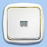 C110-206 Выключатель 1й с подсветкой внутр.золото Беларусь