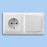 В-РЦ-691 Блок выключатель+ розетка внутр.евро Bylectrica белый - Electrichouse в Харькове