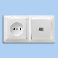 В-РЦ-697 Блок выключатель+ розетка со свет.индикацией внутр.Bylectrica белый - Electrichouse в Харькове