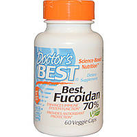 Doctor's Best, Фукоидан Best Fucoidan 70%, 60 вегетарианских капсул