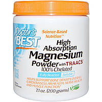 Doctor's Best, High Absoprtion Magnesium Powder with TRAACS, 7.1 oz (200 g)