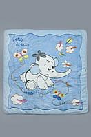 Детское махровое одеяло, плед 90х105 см. Голубое