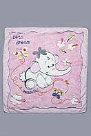 Детское махровое одеяло, плед 90х105 см. Розовое