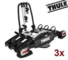 Велобагажник Thule Compact 927. Багажник для перевозки 3-х велосипедов на фаркоп. Велокрепление. Велоплощадка