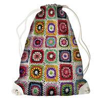"""Рюкзак мешок молодежный белый с принтом """"-орнамент-1"""" ,магазин рюкзаков"""