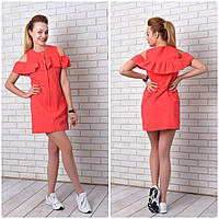 Платье-рубашка 906 коралл