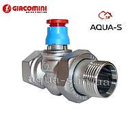 """Клапан термостатический прямой (под установку термоголовки) DN 1"""" Giacomini"""