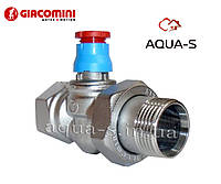 "Клапан термостатический Giacomini DN 1"" прямой (под установку термоголовки) R402X035 Италия"