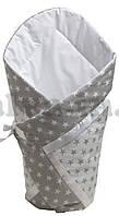 Летний конверт-одеяло на выписку, в коляску, кроватку 95х95 см для мальчика